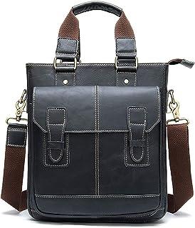 FEIHAIYAN Small Backpack Gym Duffel Messenger Bag, Leather Handbag Business Top Hand Briefcase Men's Messenger Shoulder Ba...