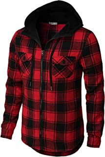 Mens Casual Hoodie Jackets Long & Short Sleeve with Pockets of Various Styles