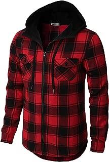red lumberjack hoodie
