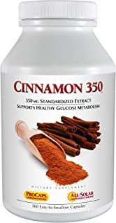 Andrew Lessman Cinnamon 350-360 Capsules – High Potency, Standardized Extract. Supports Healthy Blood Sugar Balance and Glucose Metabolism. No Additives. Small Easy to Swallow Capsules