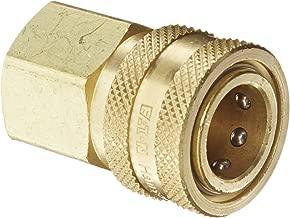 Eaton Hansen 4S26 Brass Straight Through Ball Lock Hydraulic Fitting, Socket, 1/2