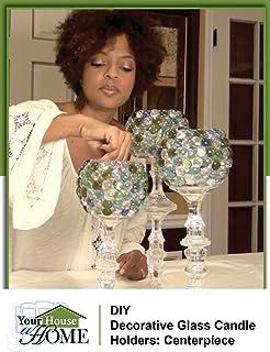 DIY Decorative Glass Candle Holders: Centerpiece