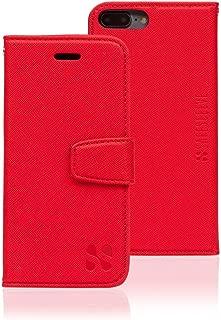 SafeSleeve EMF Protection Anti Radiation iPhone Case: iPhone 8 Plus, iPhone 7 Plus and iPhone 6 Plus RFID EMF Blocking Wallet Cell Phone Case (Red)