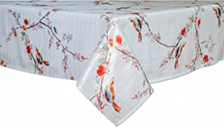 Lenox Where Entertaining Is Easy Care Vinyl Tablecloth (60 x 102 Inches Rectangle, Chirp Bird)