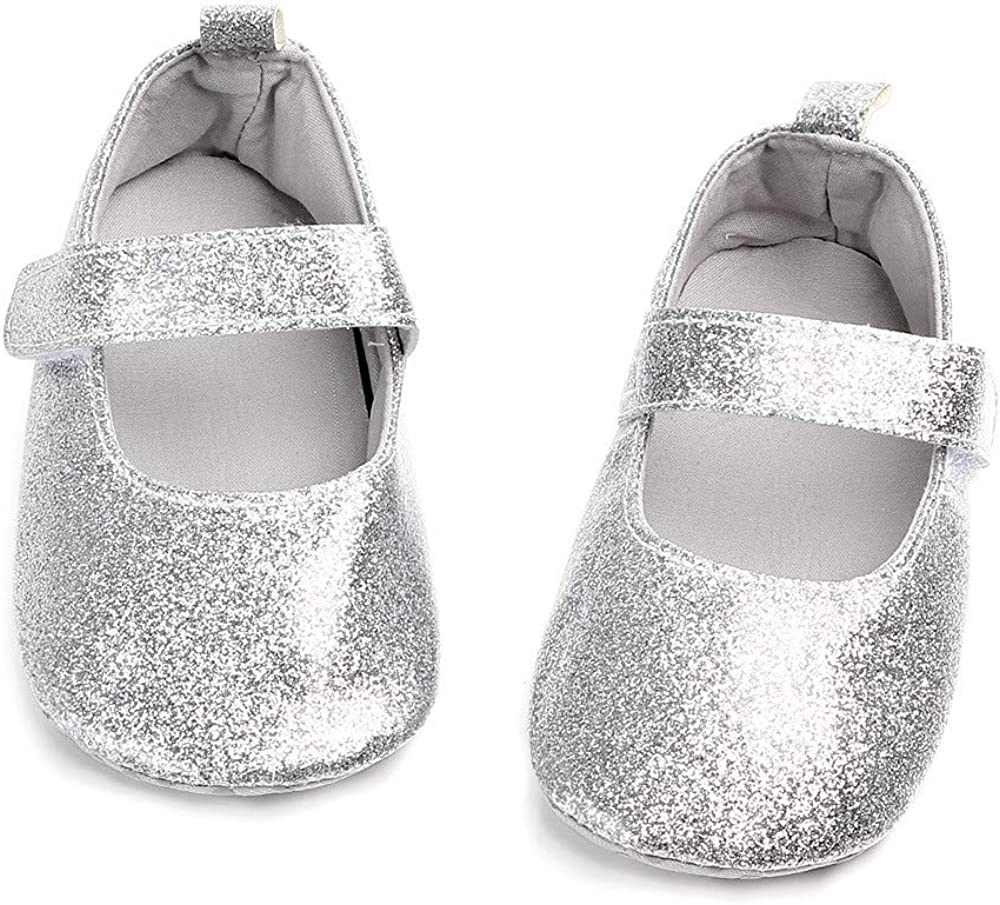 Lurryly❤Newborn Baby Girls Boys Infant Casual Premium Soft Sole Bling Toddler Prewalker Shoes