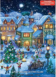 Holiday Village Square Chocolate Advent Calendar (Countdown to Christmas Calendar)