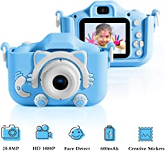 $35 » T Y Kids Camera for Girls Birthday Gifts HD 2.0 Inches IPS Screen Kids Video Camera Anti-Drop Children Selfie Toy Camera Child Dightal Camera for 3-14-Year-Old with Safe Soft Silicone Case (Blue)