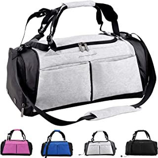 Gym Bag, Sports Duffel Bag with Shoes Compartment & Wet Pocket Waterproof for Men and Women 31L