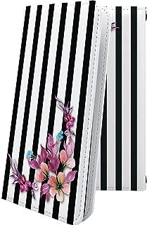 X02HT ケース 手帳型 ストライプ ボーダー マルチストライプ 花柄 花 フラワー エックスエイチティー 手帳型ケース 和柄 和風 日本 japan 和 x01 ht おしゃれ