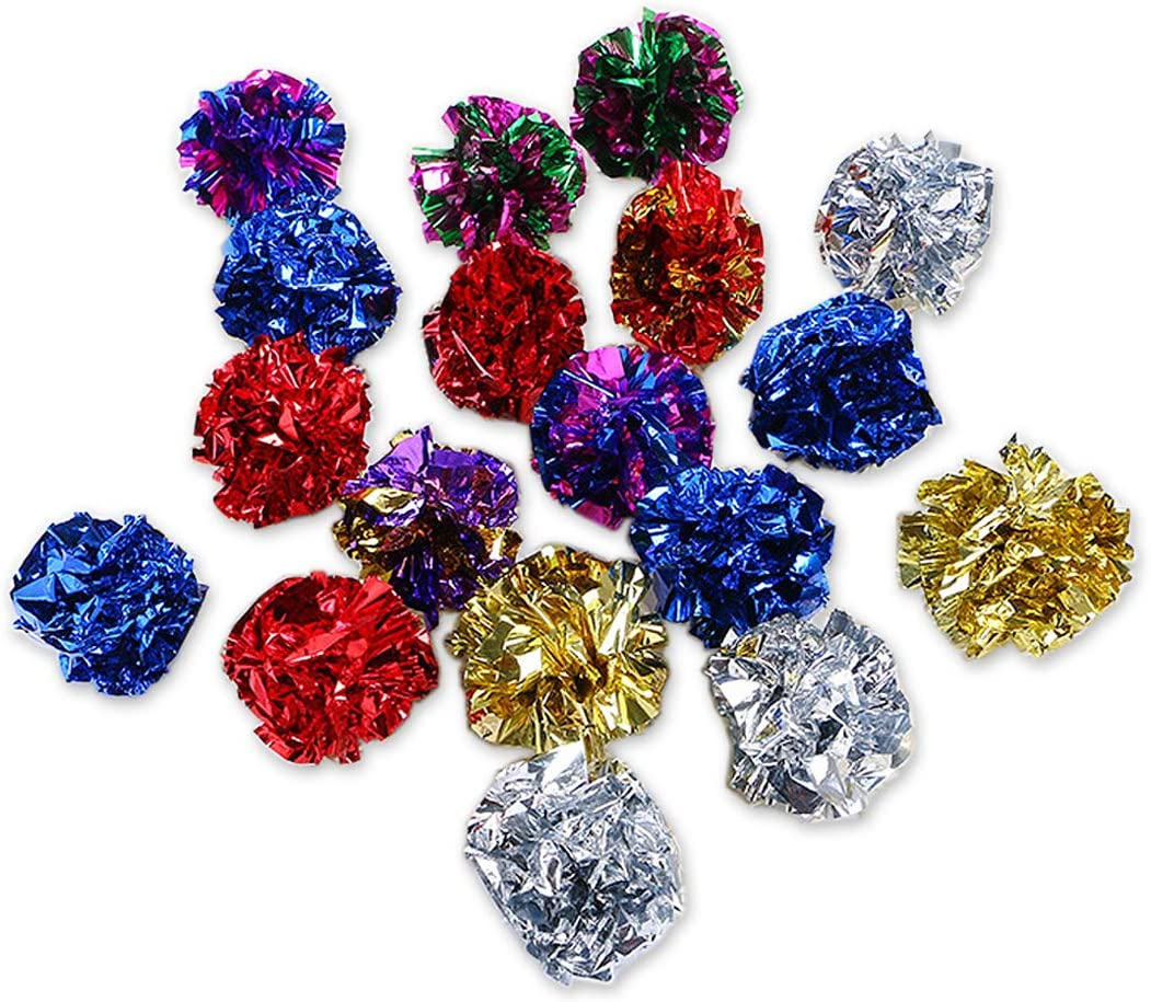 SCSpecial Crinkle Ball Max 61% OFF Cat Toy 12 Pieces Mylar 2021 autumn and winter new Ba 1.8 Inches