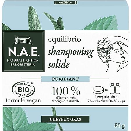 N.A.E. - Shampoo solido certificato bio purificante capelli grassi, 85 g