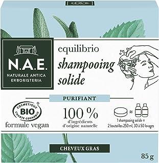 N.A.E. - Shampooing Solide Certifié Bio - Purifiant Cheveux Gras - Extraits de Sauge Bio et de Menthe Bio - Formule Vegan...