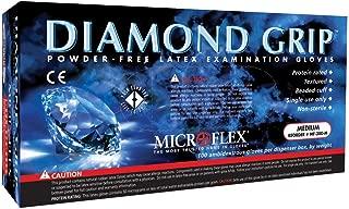 Diamond Grip Exam Glove, Small Latex Standard Cuff Length Textured Fingertips White, MF-300-S - Case of 1000
