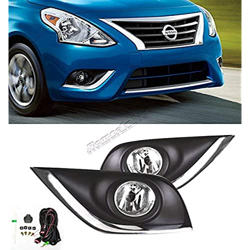 Remarkable Power FL7065 Fit For 2014-2017 Nissan Sunny/Versa Sedan Fog Lights Clear