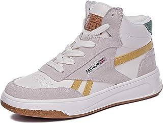 ASMCY Mujer Cuero Zapatos Casuales, Moda Al Aire Libre Zapatos Deportivos, Ligero Cómodo Zapatillas para Caminando Gimnasi...