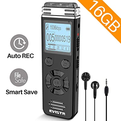 EVISTR 16gb Digital Voice Reorder Line in - Por...
