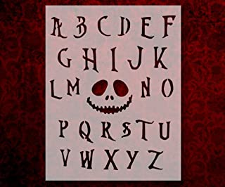Nightmare Before Christmas Font Alphabet 8.5 x 11 Inches Stencil (283)