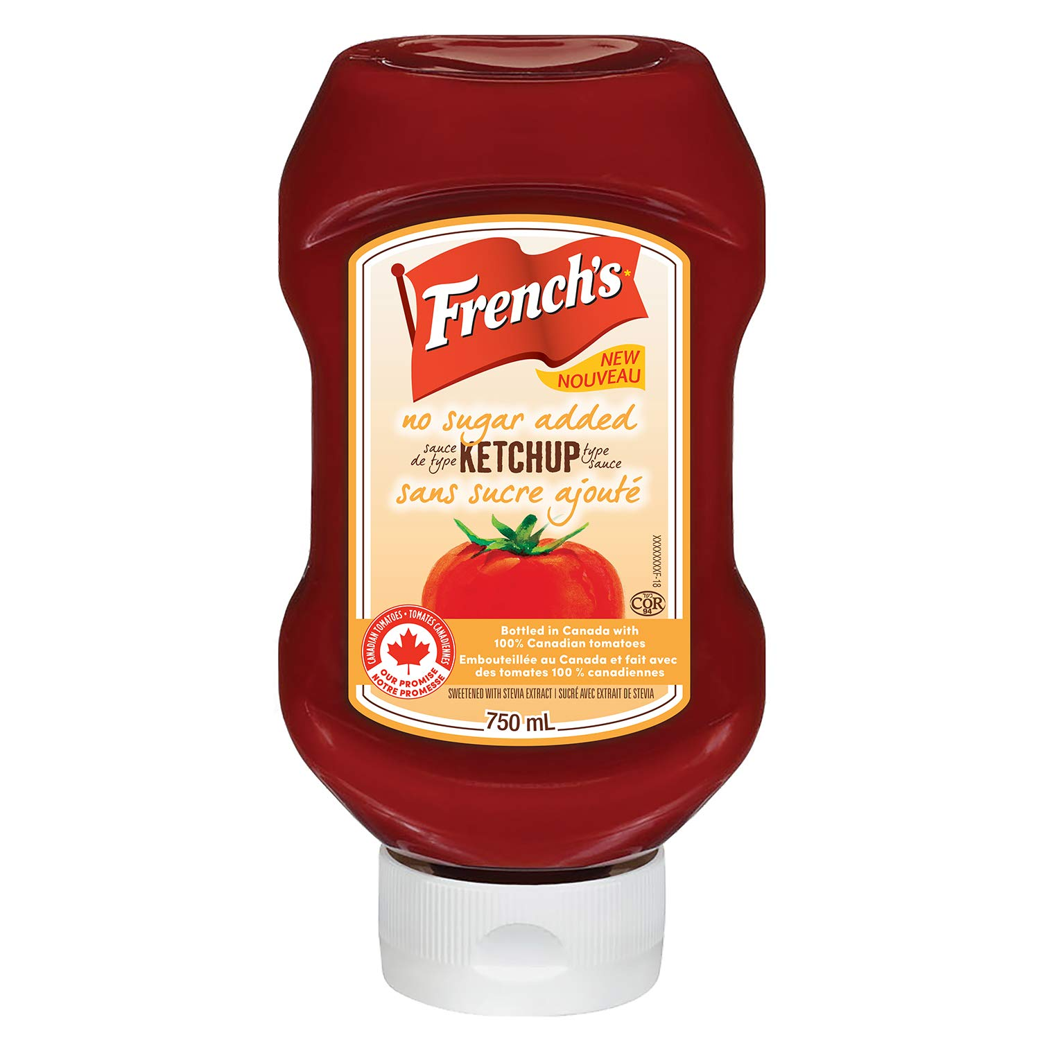 French's Tomato Ketchup No Added Cheap mail Philadelphia Mall order specialty store 750ml 25.4oz. Sugar