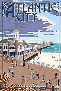 Atlantic City, New Jersey - Boardwalk 46697 (12x18 SIGNED Print Master Art Print - Wall Decor Poster)