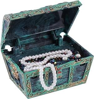 Aquarium Decorations, Artificial Decorative Treasure Jewelry Box Ornament for Fish Tank Aquarium Landscape Decoration (Green)
