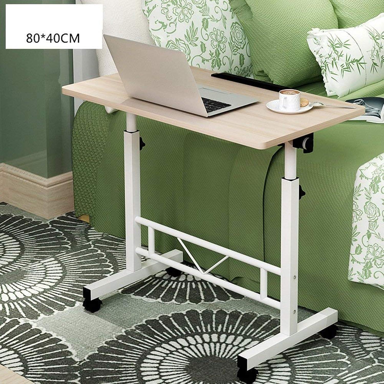 Lazy Table Folding Table Mobile Laptop Bracket Desk Adjustable Height 65-90Cm 4 Casters Save Space, ZND