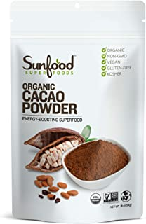 Sunfood Superfoods Cacao Powder - Pure Raw Organic. 1 lb Bag