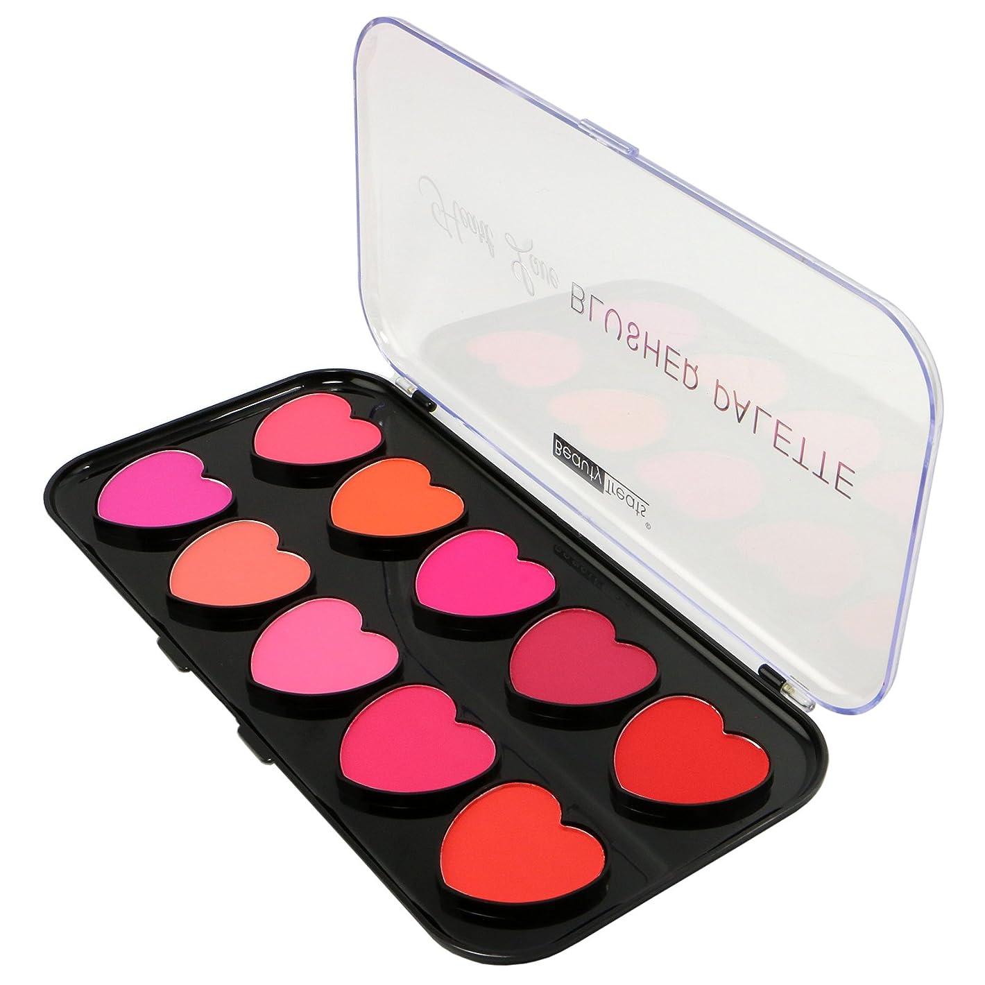 含む開梱熱BEAUTY TREATS Heart Love Blusher Palette 10 Blushes (並行輸入品)