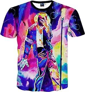 Young Men and Big Boys Fashion 3D T-Shirt Michael Jackson Printed Tops