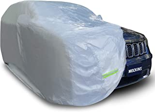 """Mockins 182"""" x 74"""" x 68"""" Small SUV Car Cover Water Resistant All Weather Full Car Cover Windproof Night Reflective Scratch..."""