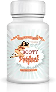Booty Perfect Butt Enhancement Pills - Sexy Curves - Booty Enlargement - Toned Look - Cellulite Treatment
