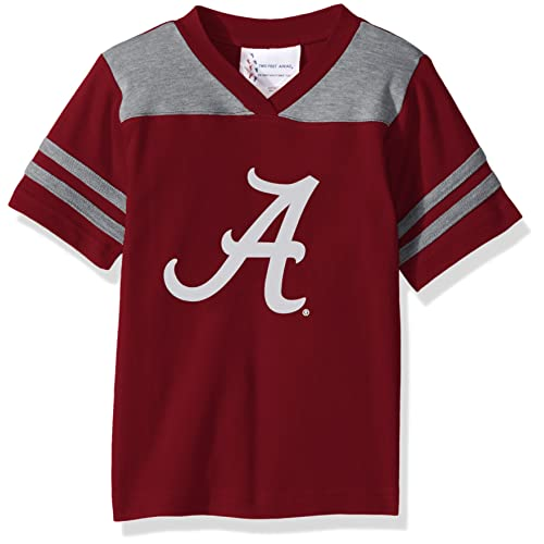 33586ca77 Two Feet Ahead NCAA Alabama Crimson Tide Toddler Boys Football Shirt,  Crimson, 3