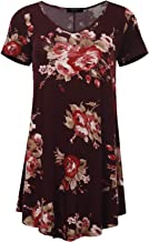 AMORE ALLFY All for You Women's Round and V-Neck Flare Short Sleeve Tunic