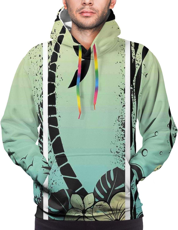 TENJONE Men's Hoodies Sweatshirts,Grunge Style Sri Yantra Symbol Exotic Geometric Triangle Symbols Watercolor
