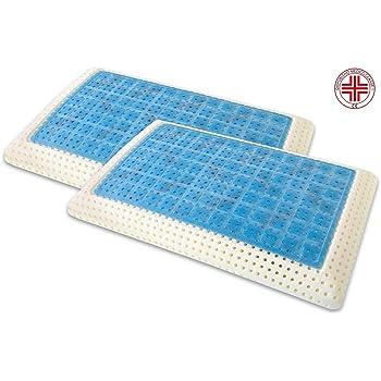 Marcapiuma - Pack de 2 Almohadas Viscoelásticas Memory Gel 70 cm ...