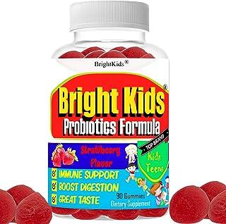 Kids Probiotic Gummies   Stomach Ache Relief for Kids   Prebiotic + Probiotic   Chewable Probiotics Vegan and Non-GMO   Da...