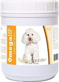 Healthy Breeds Toy Poodle Omega HP Fatty Acid Skin and Coat Support Soft Chews 90 Count