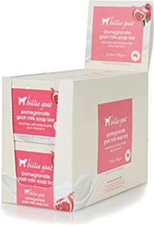 Billie Goat Pomegranate Everyday Soap Bar 12 Pack, Pomegranate, 100 g