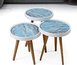 طاولة منزلية بتصميم متدرج الحجم 3 في 1 بتصميم تقليدي من برافو
