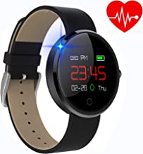 kingkok Colorful OLED Screen Dynamic Heart Rate and Blood Pressure Watch with Pedometer Calories Counter Sleep Monitor Band Waterproof Fitness Tracker Smart Bracelet