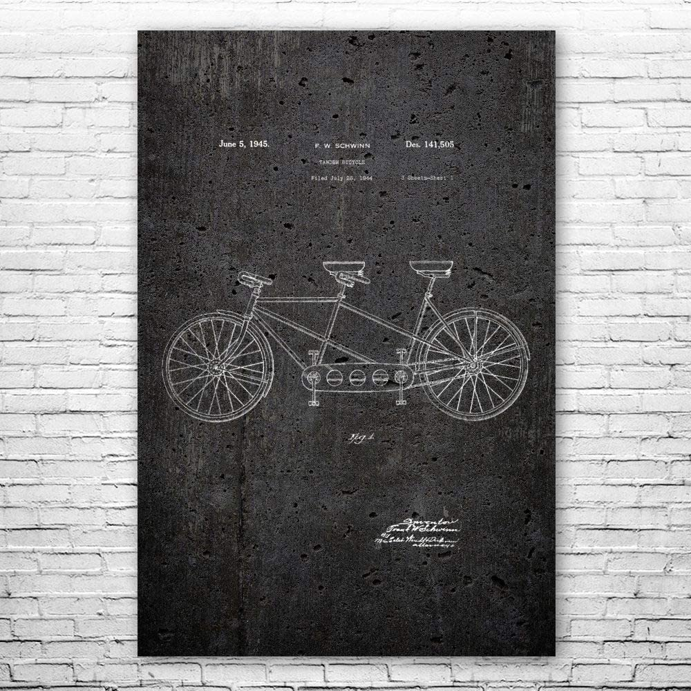 Patent 新作製品 世界最高品質人気 オンラインショップ Earth Tandem Bicycle Poster Cycl Art Wall Print