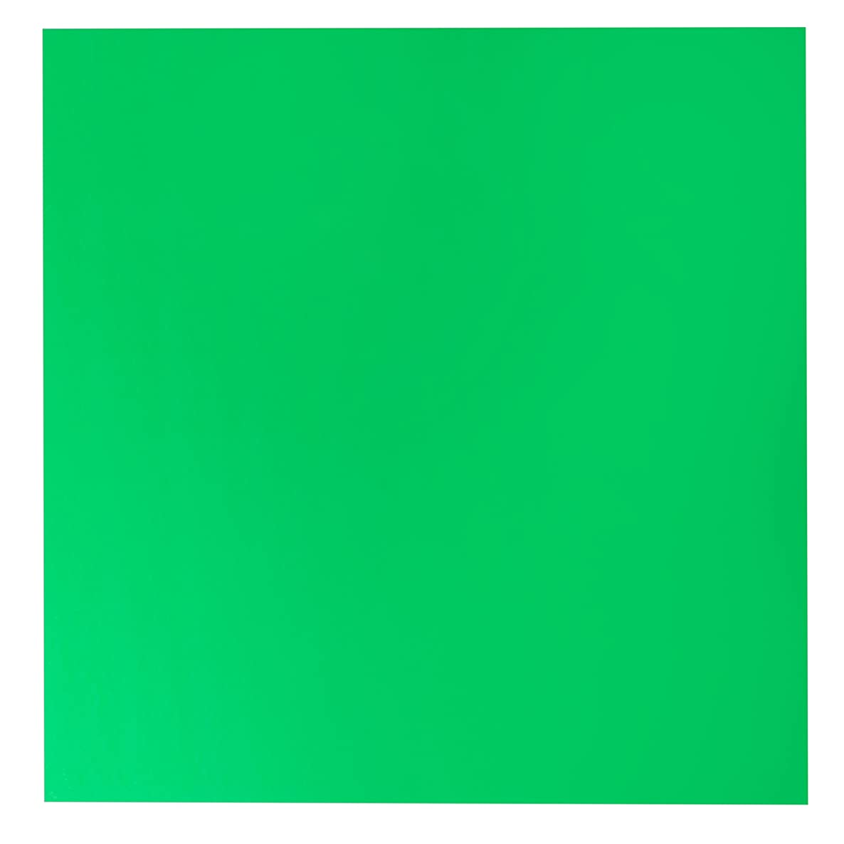 American Crafts Bazzill Basics Plastic Embossing Paper 15 Pack of 12 x 12 Inch Shamrock