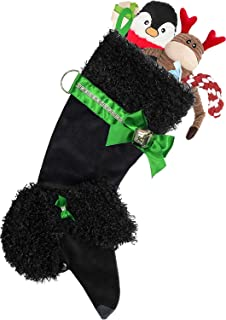Hearth Hounds - Poodle (Black) - Realistic Dog Stocking for Holidays, Christmas and Animal Lovers, Great Gift Bag for New Dog Owner Or Doggie Birthday