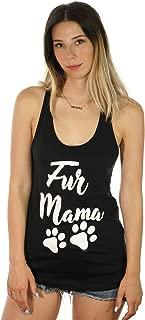 Shop Delfina Fur Mama Cat Dog Lover Pet Paws Women's Racerback Tank Top