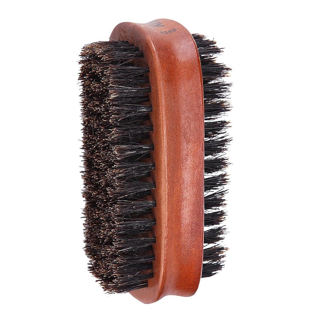 インポート異邦人枯渇Toygogo ヘアブラシ 両面ブラシ 男性 髭 口ひげ グルーミングブラシ ブリストルブラシ