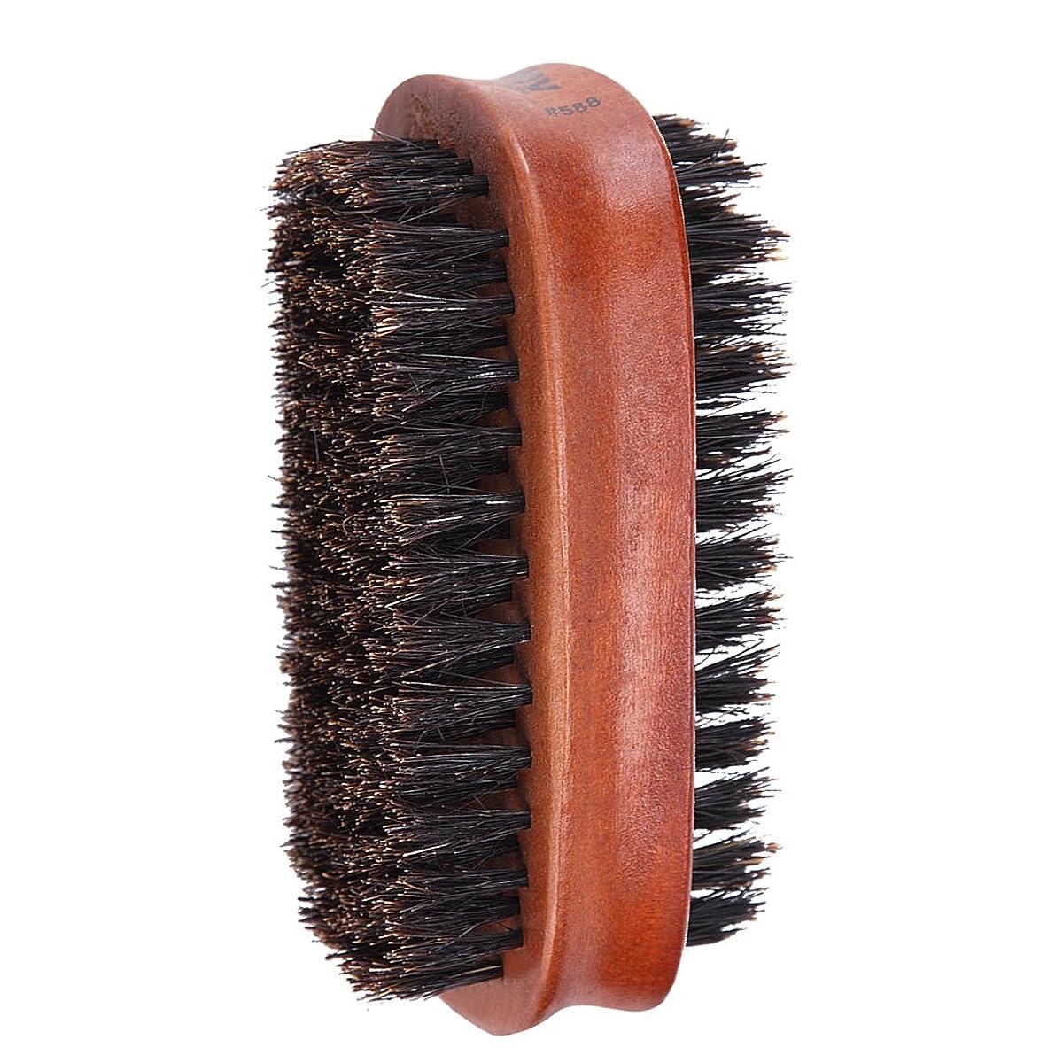 女の子焦がす無効Toygogo ヘアブラシ 両面ブラシ 男性 髭 口ひげ グルーミングブラシ ブリストルブラシ