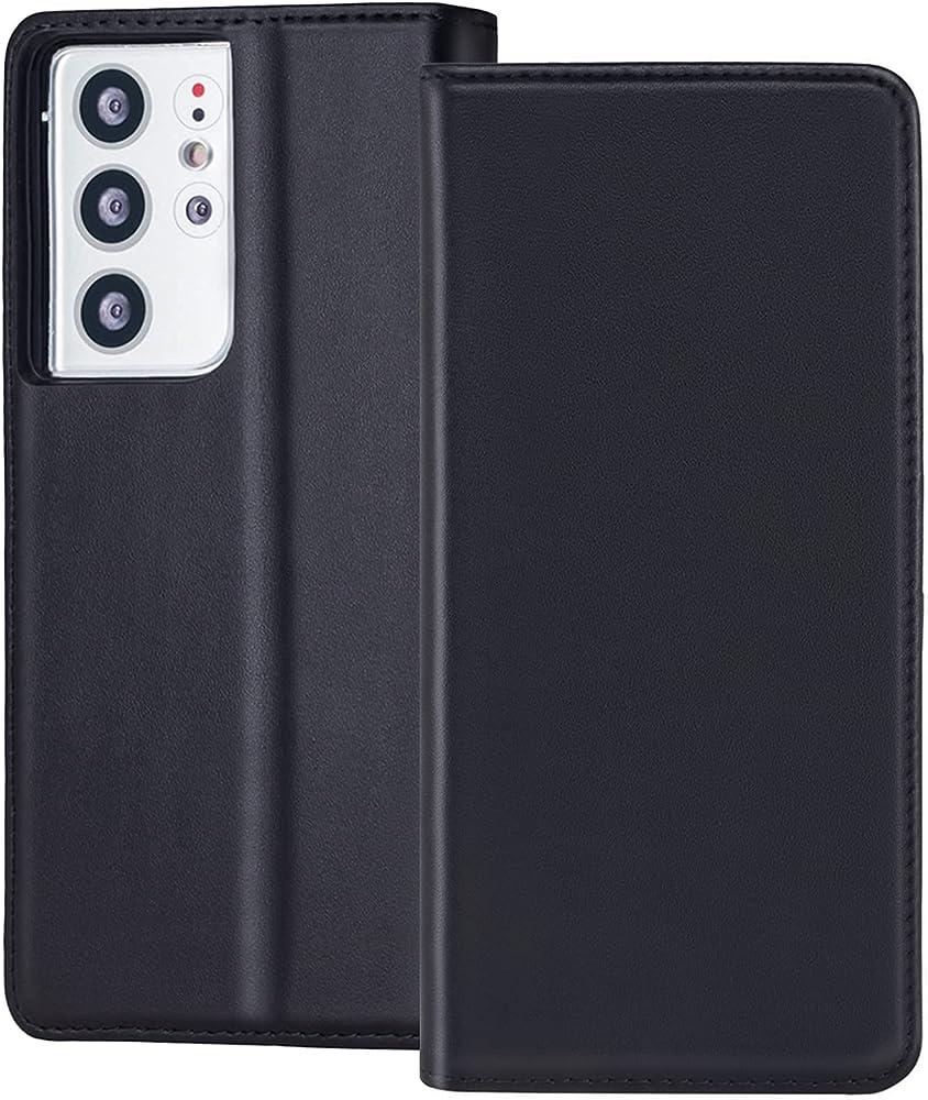 Redyrun, portafoglio, custodia per samsung galaxy s21 ultra, in pelle e silicone, porta carte di credito, SG21Uhandycase-B