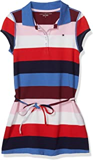 Tommy Hilfiger Girls' Adaptive Polo Dress with Magnetic Buttons, Bright