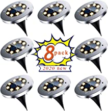 Solar Ground Lights, Upgraded Outdoor Garden Waterproof Bright in-Ground Lights for Lawn Pathway Yard Driveway, producing ...