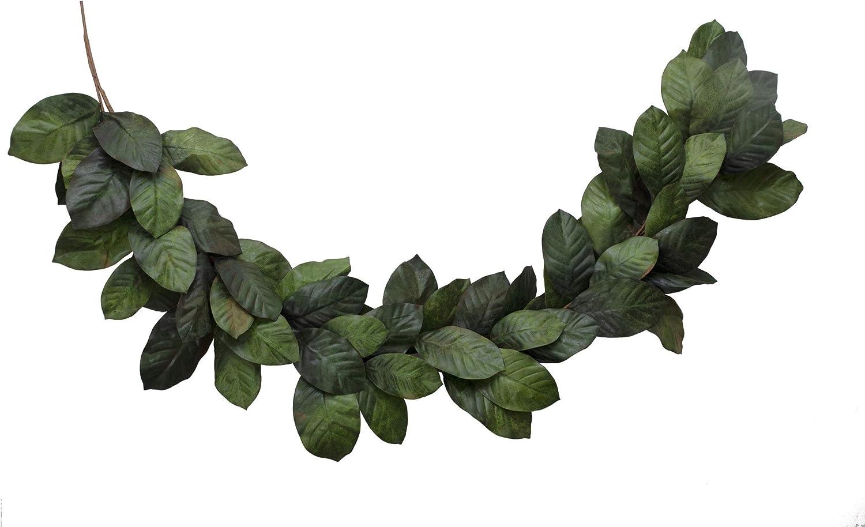 Vita Ranking TOP11 Domi 6 Foot Artificial Magnolia Leaf Alternative dealer 2 Tone Green Garland