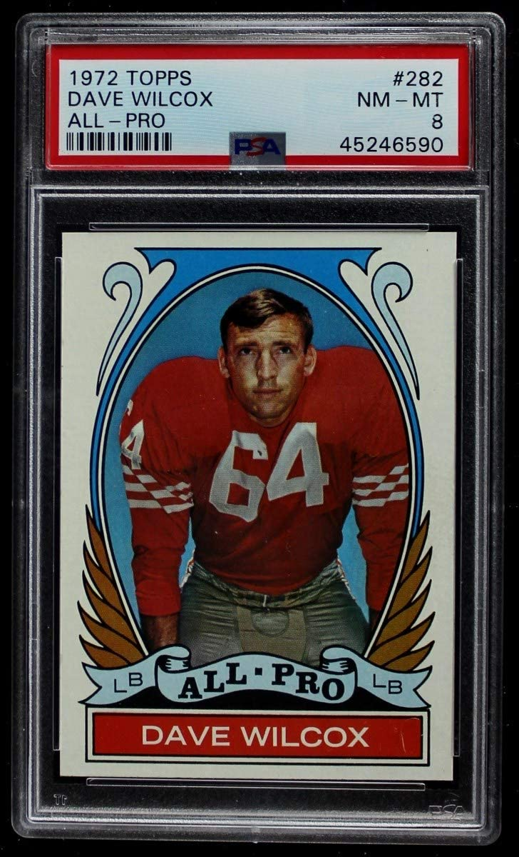 1972 Topps # 282 All-Pro Dave 49ers Free shipping New New mail order San Wilcox Footba Francisco